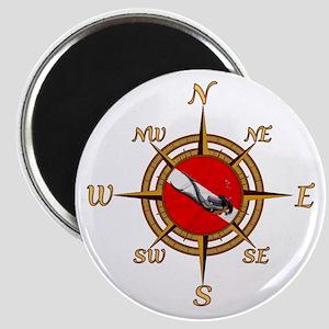 Dive Compass Woman Magnet