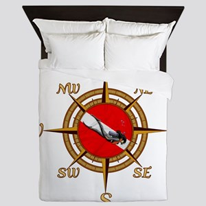 Dive Compass Woman Queen Duvet