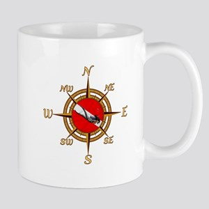 Dive Compass Woman Mug