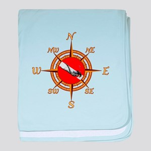 Dive Compass Woman baby blanket