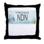 Virginia NDN Pride Throw Pillow