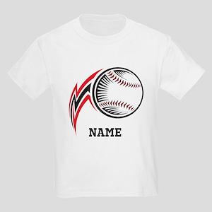 Personalized Baseball Pitch Kids Light T-Shirt