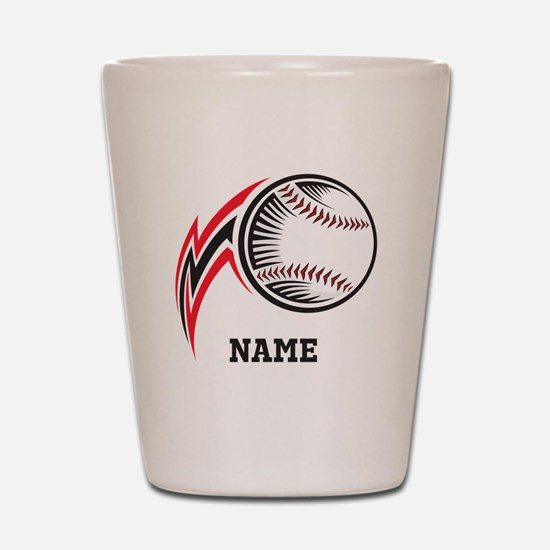 Personalized Baseball Pitch Shot Glass