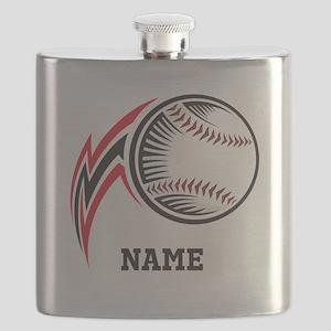 Personalized Baseball Pitch Flask