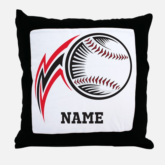 Personalized Baseball Pitch Throw Pillow