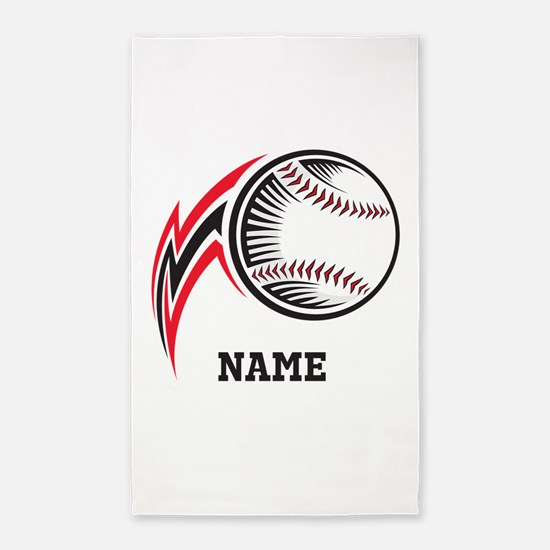 Personalized Baseball Pitch 3'x5' Area Rug