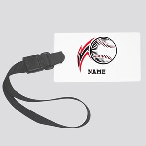 Personalized Baseball Pitch Large Luggage Tag