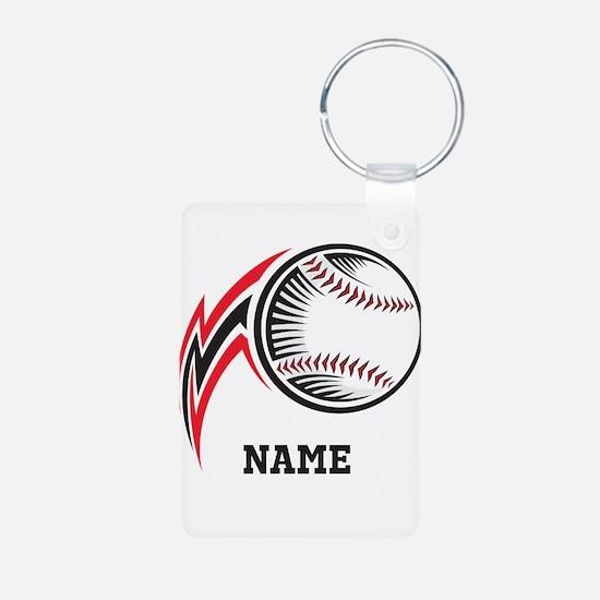 Personalized Baseball Pitch Keychains