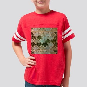 Mosaic in Green Youth Football Shirt
