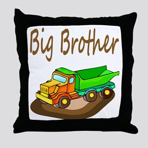 Big Brother Dump Truck Throw Pillow