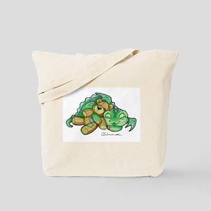 Sleepy Teddy Bear Dragon Tote Bag