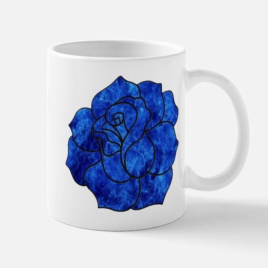 Blue Rose Mug