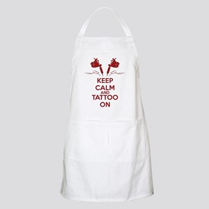 Keep calm and tattoo on Apron