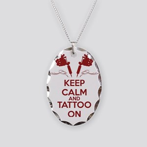 Keep calm and tattoo on Necklace Oval Charm