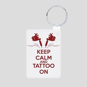 Keep calm and tattoo on Aluminum Photo Keychain