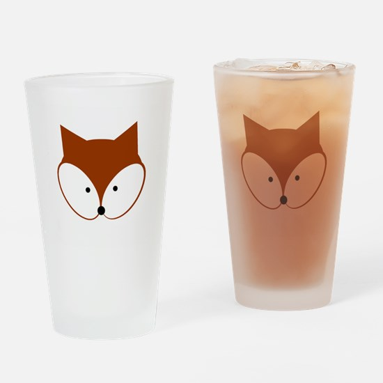 Curious Fox Drinking Glass