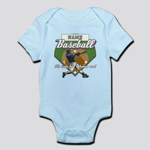 Personalized Home Run Time Infant Bodysuit