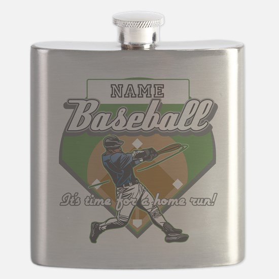 Personalized Home Run Time Flask