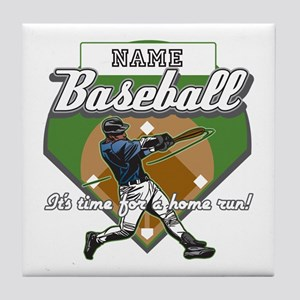 Personalized Home Run Time Tile Coaster