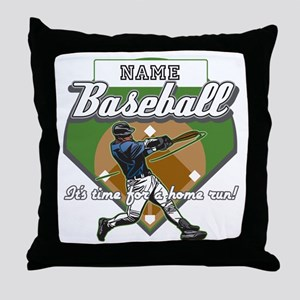 Personalized Home Run Time Throw Pillow
