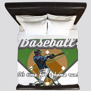 Personalized Home Run Time King Duvet