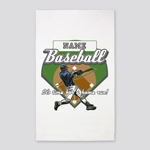 Personalized Home Run Time 3'x5' Area Rug