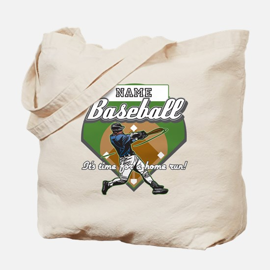 Personalized Home Run Time Tote Bag