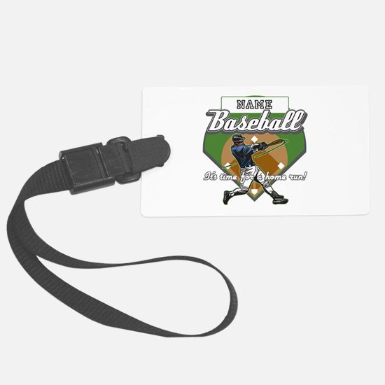 Personalized Home Run Time Luggage Tag