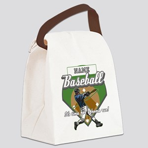 Personalized Home Run Time Canvas Lunch Bag