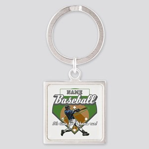 Personalized Home Run Time Square Keychain