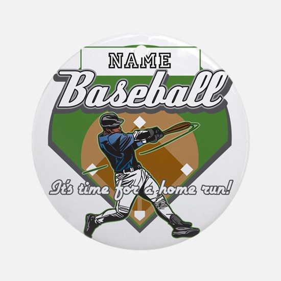 Personalized Home Run Time Ornament (Round)
