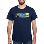 Van Gogh & Munch (front and back) Dark T-Shirt