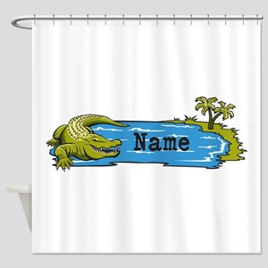 Personalized Alligator Shower Curtain