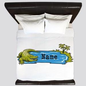 Personalized Alligator King Duvet