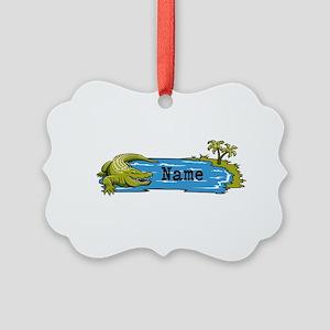 Personalized Alligator Picture Ornament