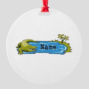 Personalized Alligator Round Ornament