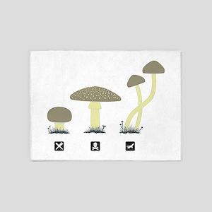 Mushrooms 5'x7'Area Rug