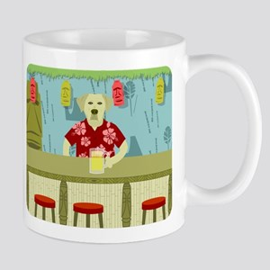 Yellow Labrador Retriever Tiki Bar Coffee Mug