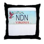 Virginia NDN Throw Pillow