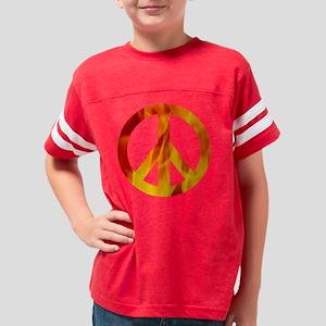 TShirtBlack_peaceflames Youth Football Shirt