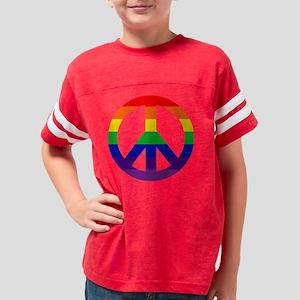 TShirtBlack_peacerainbow4 Youth Football Shirt