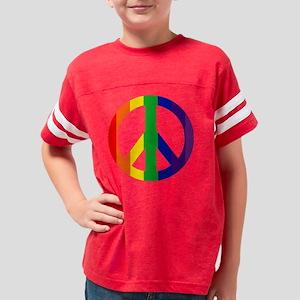 TShirtBlack_peacerainbow3 Youth Football Shirt