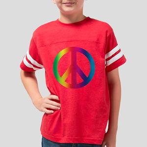 TShirtBlack_peacerainbow2 Youth Football Shirt