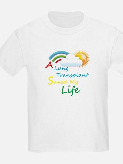A Lung Transplant Saved my Life Rainbow Cloud T-Shirt