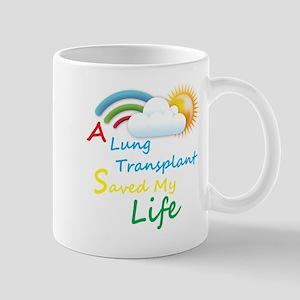 A Lung Transplant Saved my Life Rainbow Cloud Mug