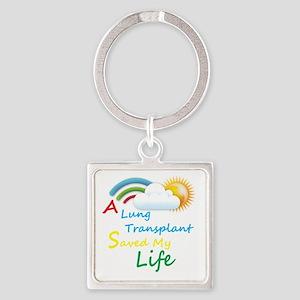 A Lung Transplant Saved my Life Rainbow Cloud Squa