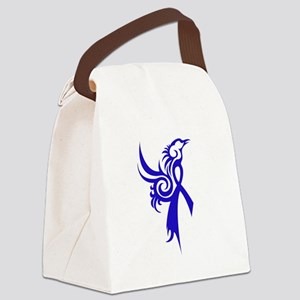 Phoenix in Blue Canvas Lunch Bag