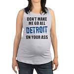 Detroit Football Maternity Tank Top