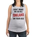 Oakland Football Maternity Tank Top