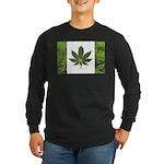 Legalize Marijuana Cannabis Flag Long Sleeve Dark